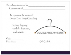 gift certificates give the gift of style