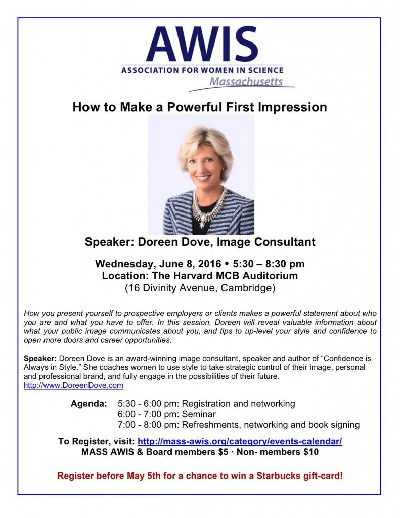 Dove AWIS Event flyer