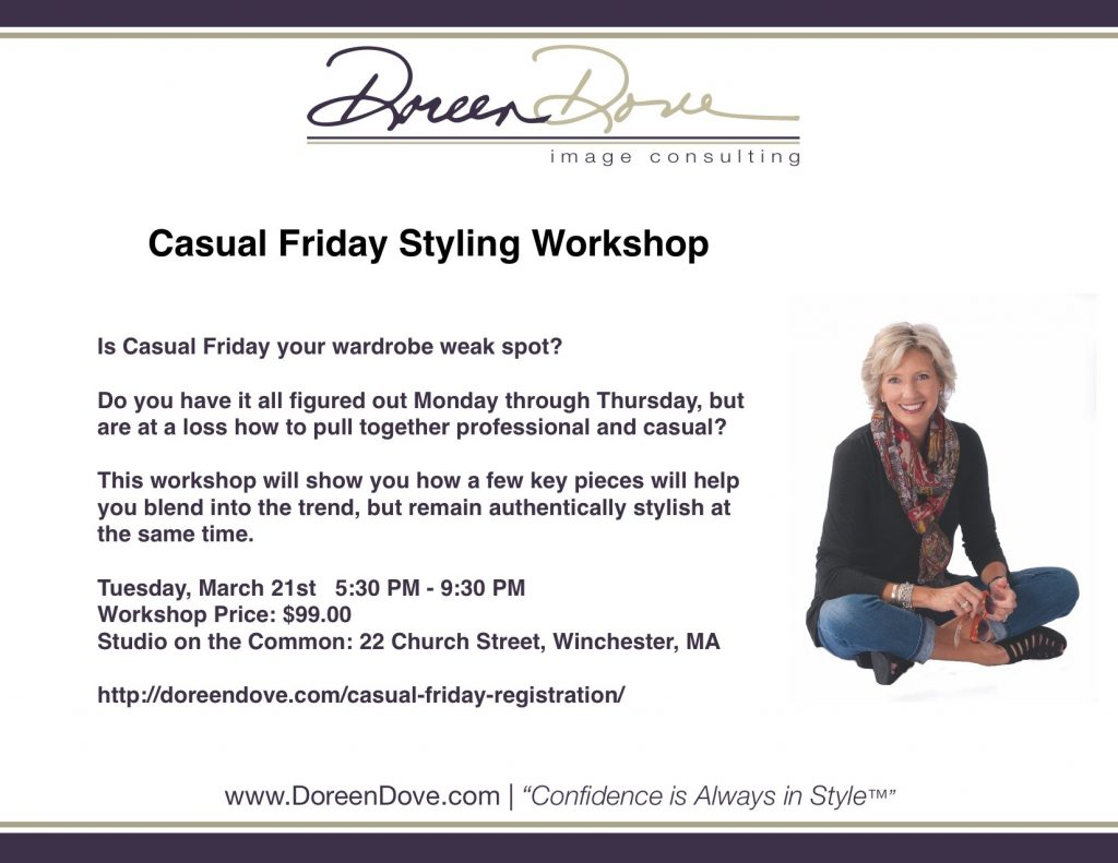 34a5dffd7e1b If you want me to host a Casual Friday Workshop at your business or office,  contact me to discuss the options. Doreen@DoreenDove.com